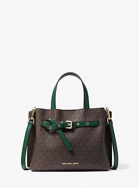 Маленькая сумка-портфель Emilia с логотипом Michael Kors