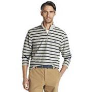 Big & Tall IZOD Classic-Fit Striped Textured Quarter-Zip Pullover IZOD