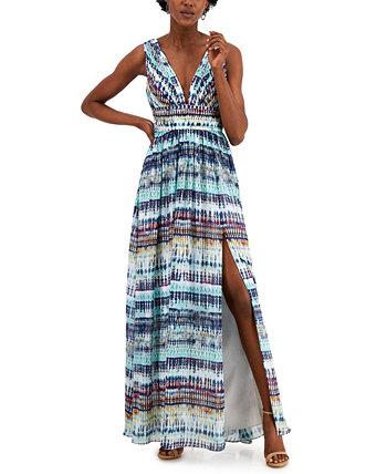Printed Maxi Dress Aidan Mattox