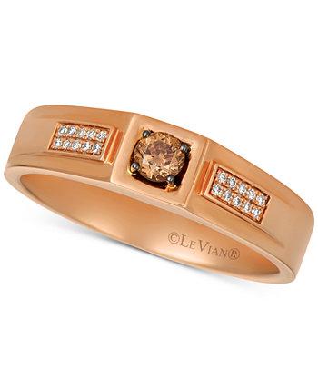 Мужское кольцо с бриллиантом (1/4 карата) из розового золота 14 карат Le Vian