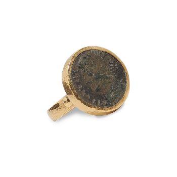 Древности 22K & amp; Римское кольцо из желтого золота 24 карат Gurhan