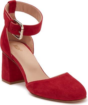 Туфли-лодочки с кожаным ремешком и ремешком на щиколотке RED VALENTINO