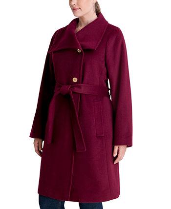 Асимметричное пальто больших размеров с поясом, созданное для Macy's Michael Kors