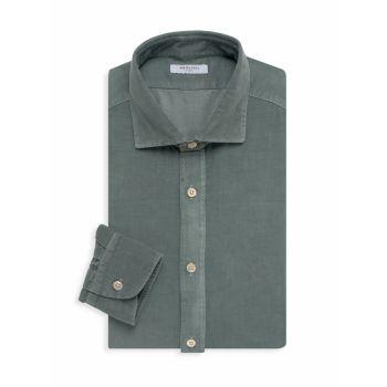 Рубашка из микровельветового хлопка BOGLIOLI