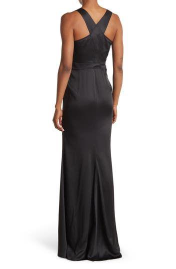 Square Neck Buckle Strap Maxi Dress Jeremy Scott