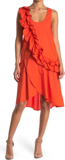 Хлопковое платье с оборками и деталями TOV