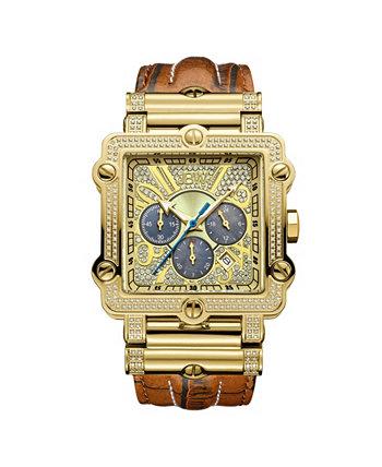 Мужские часы с бриллиантами Phantom (1 карат) и позолоченные часы из нержавеющей стали 18 карат JBW