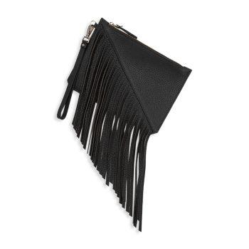 Маленькая кожаная сумка на запястье Moda с бахромой Etienne Aigner