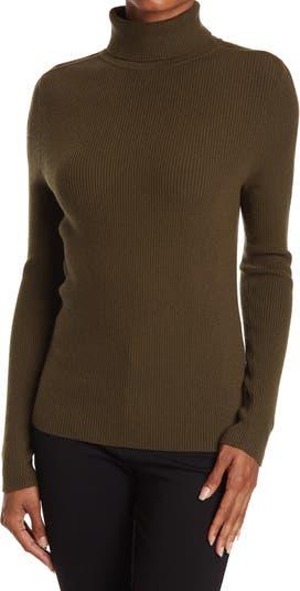 Вязаный свитер с воротником под горло Rachel в рубчик с открытыми плечами Ramy Brook