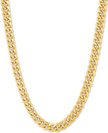 Колье-цепочка Miami Cuban Link 18 дюймов, золото 10 карат Italian Gold