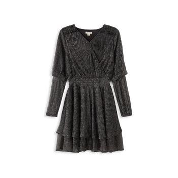 Платье для девочек со сборкой на талии HABITUAL girl