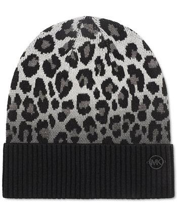 Окрашенная окунуться леопардовая шапка Michael Kors