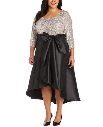 Платье больших размеров с пайетками и высоким вырезом R & M Richards