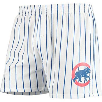 Men's Concepts Sport White Chicago Cubs Vigor Boxer Shorts Unbranded