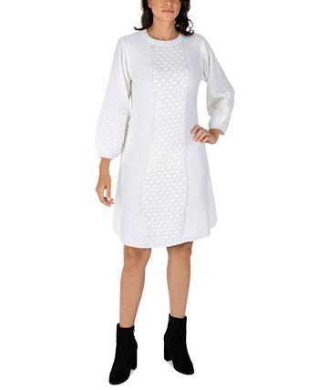 Текстурированное платье-свитер Petite с объемными рукавами Robbie Bee