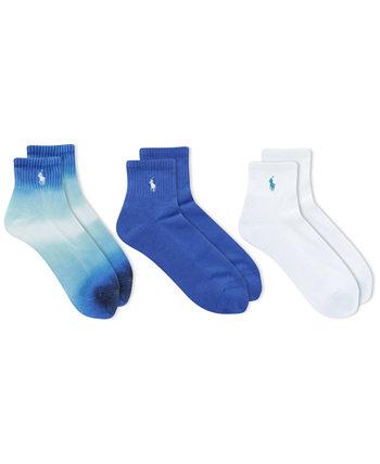 3-п. Синие носки до щиколотки Ombré Ralph Lauren