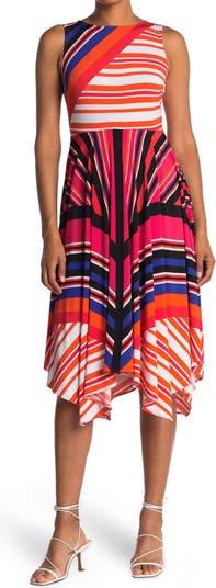 Patterned Asymmetrical Dress Gabby Skye