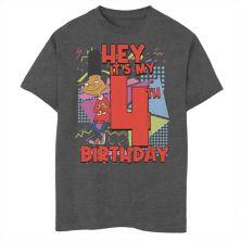 Футболка для мальчиков 8-20 Nickelodeon Hey Arnold Gerald с рисунком на 4-й день рождения Nickelodeon