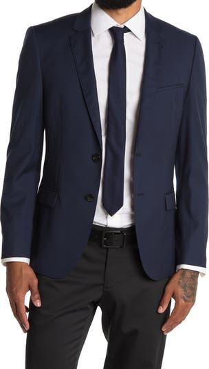 Пиджак из однотонной шерсти с вырезом на воротнике Arti BOSS Hugo Boss