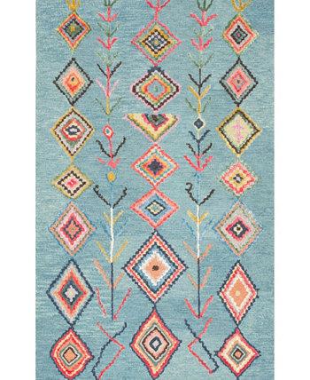 San Miguel Hand Tufted Belini Turquoise 6' x 9' Area Rug NuLOOM