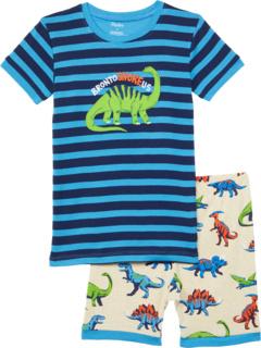 Короткая пижама из органического хлопка Friendly Dinos (для малышей / маленьких детей / детей старшего возраста) Hatley Kids