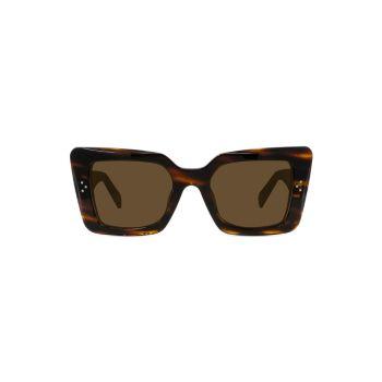 Солнцезащитные очки 54MM в квадратной оправе «Кошачий глаз» CELINE