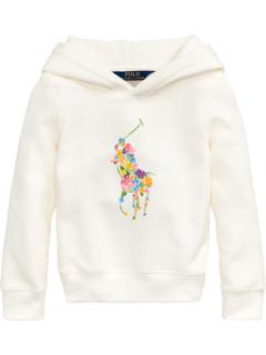 Толстовка с капюшоном из флиса с цветочным рисунком пони (для малышей) Ralph Lauren