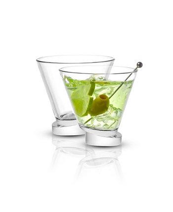 Круглые бокалы для мартини Aqua Vitae Off Base, набор из 2 шт. JoyJolt
