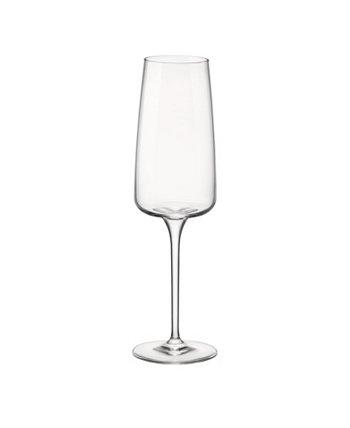 Флейта Planeo 8 унций. Набор из 4 стаканов Bormioli Rocco
