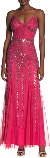Embellished V-Neck Gown MARINA