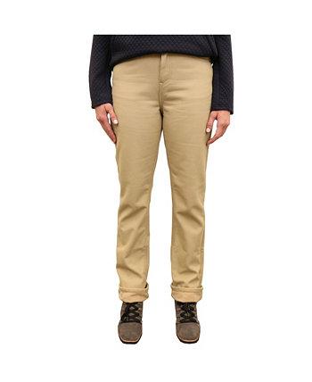 Женские брюки с 5 карманами на холщовой флисовой подкладке Mountain And Isles