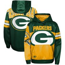 Youth Gold/Green Green Bay Packers First and Goal Pullover Hoodie Outerstuff