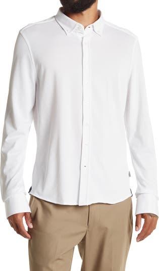 Рубашка Performance Pique с трикотажной отделкой Stone Rose