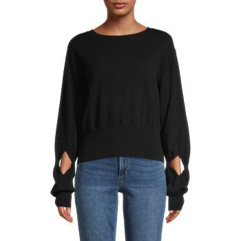 Кашемировый свитер с вырезом Autumn Cashmere