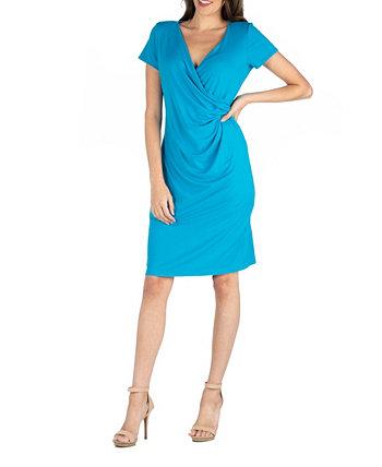 Платье из искусственной ткани с рукавом 24seven Comfort Apparel