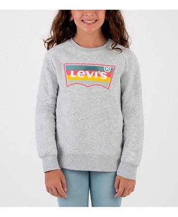 Толстовка с круглым вырезом из синели для девочек Batwing Levi's®