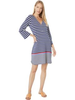 Ashley Dress - Navy Stripes Hatley