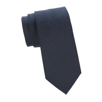 Фактурный галстук из шелка и льна Brioni