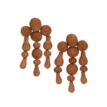 Серьги-капли Threads Of Hope Iraca Palm DANNIJO