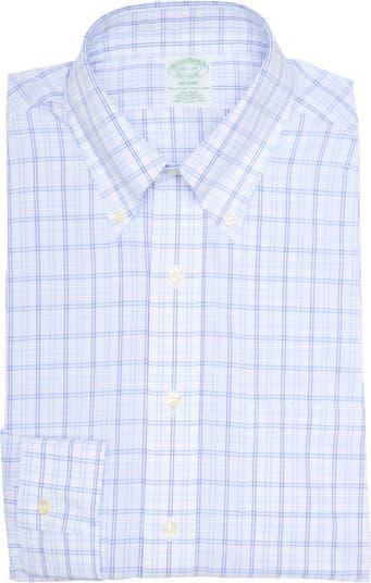 Классическая рубашка Milano Fit в клетку без железа Brooks Brothers