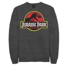 Мужской флисовый пуловер с оригинальным логотипом и оригинальным логотипом Парк Юрского периода Jurassic World