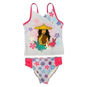 Disney's Raya Girls 4-6x Tankini Top & Bottoms Swimsuit Set Licensed Character