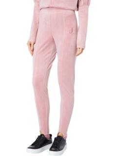 Велюровые брюки со вставками со вставками Pin Tuck Juicy Couture