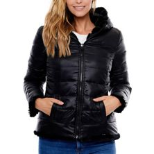 Women's Be Boundless Hooded Reversible Puffer & Faux-Fur Jacket Be Boundless