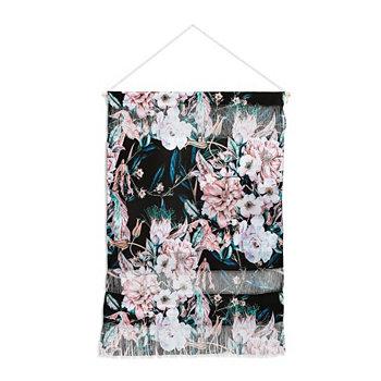 """Настенный портрет Марты Барраган Камараса в темном диком розовом цветке, 22 """"x32"""" Deny Designs"""