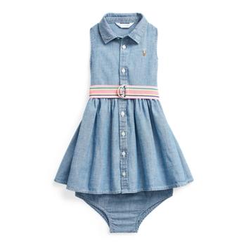Cotton Chambray Woven Dress Ralph Lauren