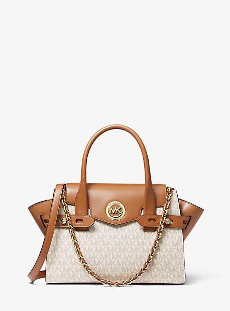 Сумка-портфель Carmen с маленьким логотипом и кожаным ремнем Michael Kors
