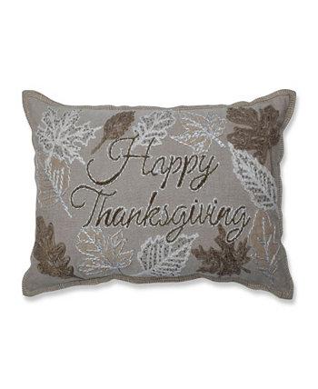 Декоративная подушка из бисера с Днем Благодарения Pillow Perfect