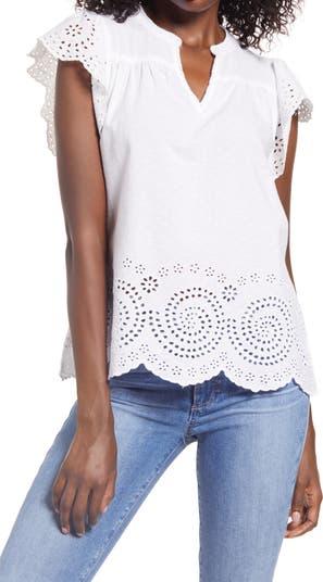 Блуза Aurora из хлопка с люверсами FAHERTY BRAND