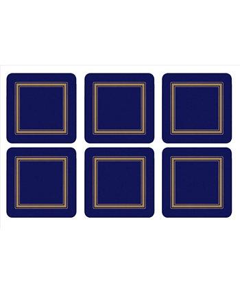 Классические подстаканники Midnight Blue, набор из 6 шт. Pimpernel